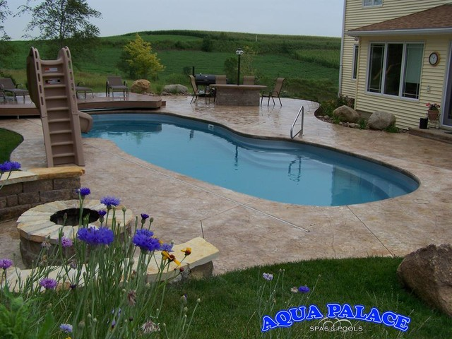 Fiberglass pool designs traditional pool other metro for Pool design questions