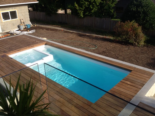 Fibreglass Plunge Pool Swim Spa Spa Combo Contemporary Pool Vancouver By Ca Pools