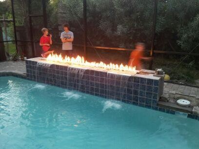 Fire Features Contemporary Swimming Pool Amp Hot Tub
