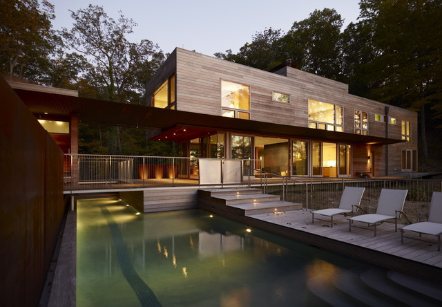 Fire Lane Retreat contemporary pool