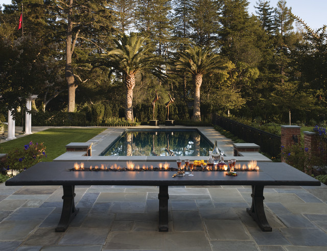 Fire Table contemporary-pool