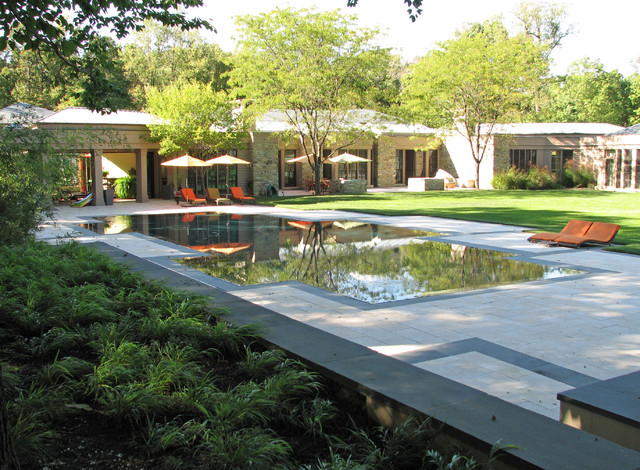 Flat water residence modern pool dc metro by for Plusen landscape architects