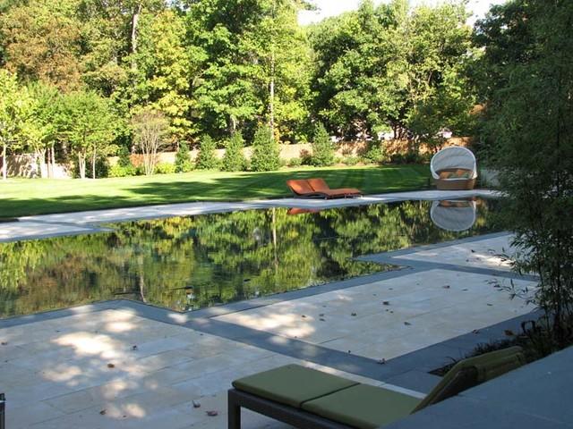 Flat water residence modern pool dc metro av for Plusen landscape architects