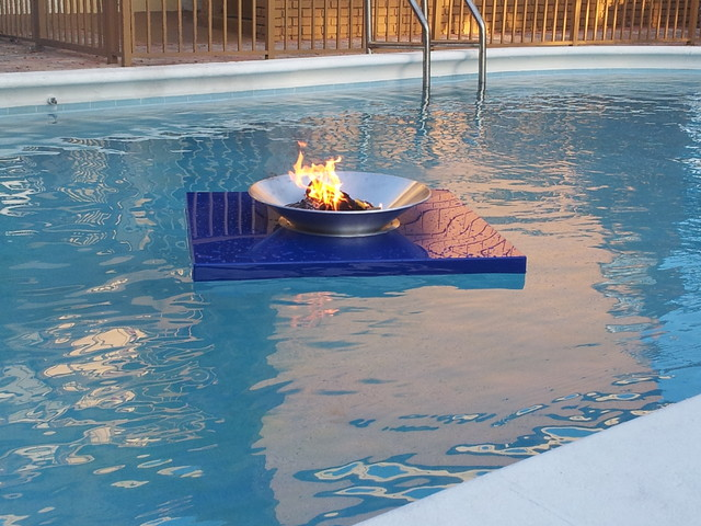 Floating Fire Pits contemporary-pool - Floating Fire Pits
