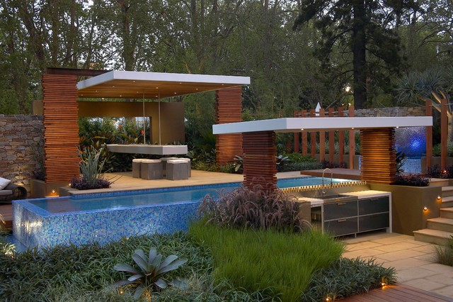 rolling stone landscapes, floating layers - contemporary - pool - melbourne - by dean herald, Design ideen