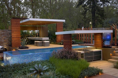 Floating layers more info for Pool design houzz