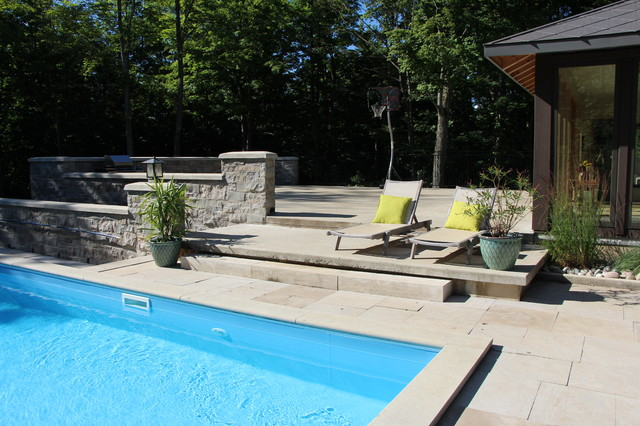Floating pool transitional pool other by laurens for Pool floats design raises questions