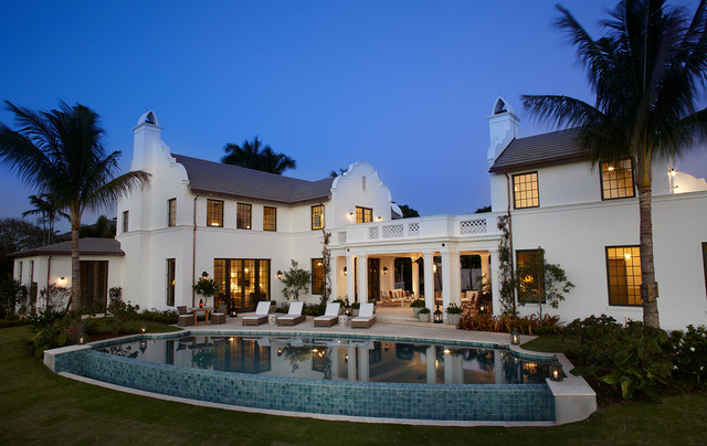 Florida Cape Dutch - Mediterranean - Pool - Miami - by ...