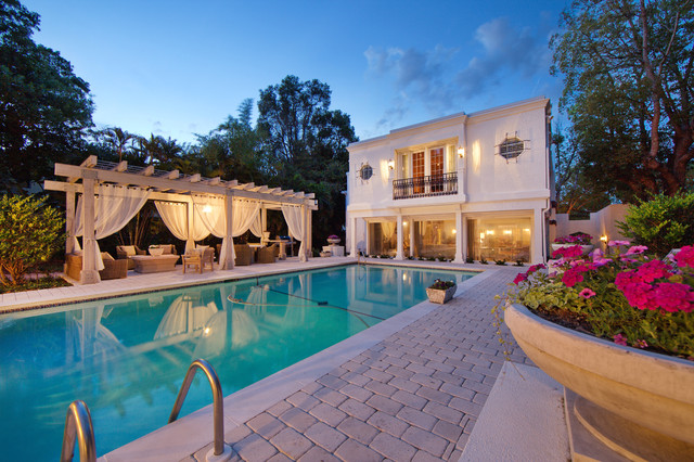 Florida Historic Renovation mediterranean pool