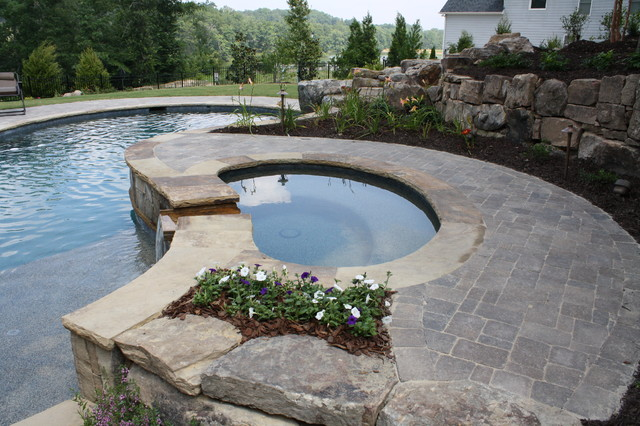Flowery Branch Swimming Pool and Porch traditional-swimming-pools-and-spas