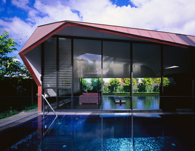 Folded House contemporary-pool