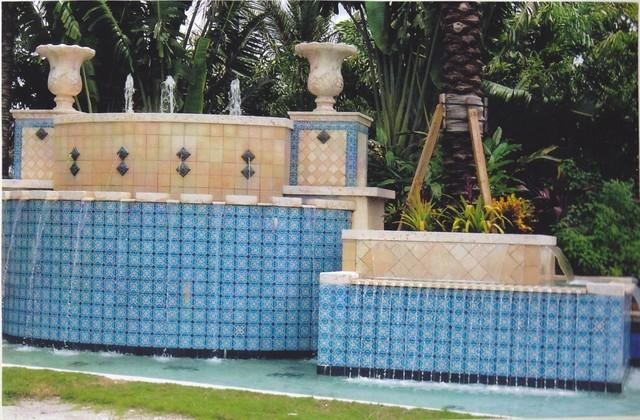 Fountain Mediterranean Pool Other By Casa Ceramica Inc