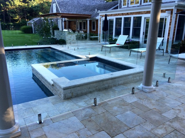 Frameless Gl Pool Fence East Hampton Ny 15 Contemporary Swimming And