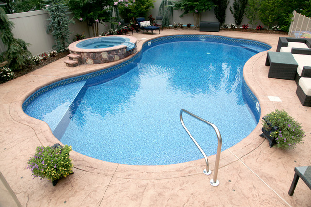 free form inground pool tropical pool new york by fuggetta contracting corp. Black Bedroom Furniture Sets. Home Design Ideas
