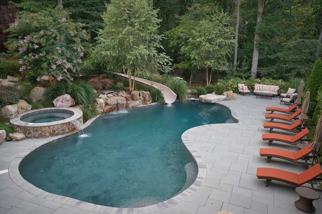 Free form pools traditional pool baltimore by - Johnson swimming pool roseville ca ...