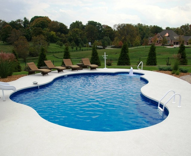 Free form vinyl liner prospect ky tropical pool for Pool design louisville ky