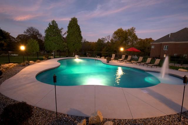 Free Form Vinyl Liner Swimming Pool Tropical Pool