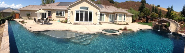 Free Form With Lap Lane Panarama Tropical Swimming Pool San Francisco By Pools For You