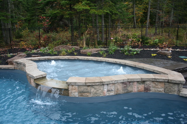 Freeform Fiberglass Pool traditional-pool
