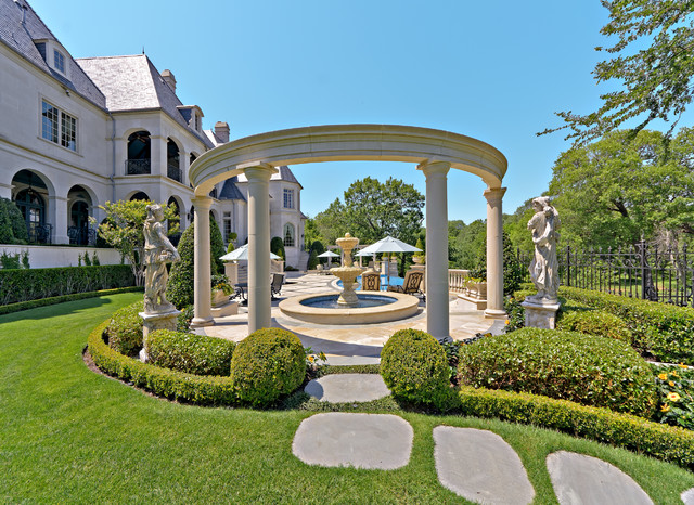 Private residence french formal luxury traditional for Semi formal garden designs