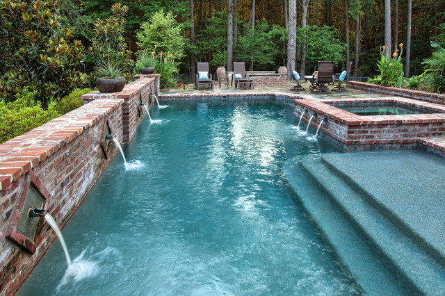French country courtyard for Pool design new orleans