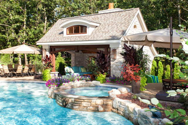 French Country European Style Home Traditional Pool