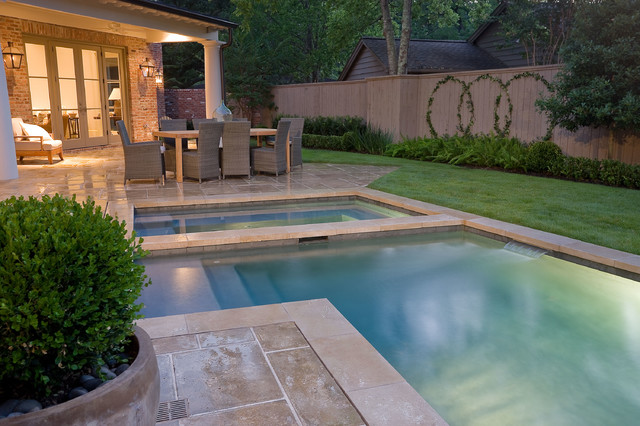 French country modern traditional pool houston by for Traditional swimming pool designs