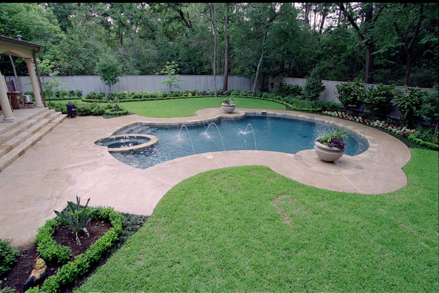 French landscaping traditional pool houston by for Exterior worlds landscape design
