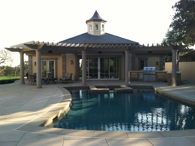 French Pool Pavilion Pasadena Ca Traditional Pool