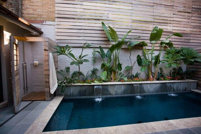 French Quarter Fire House modern-pool