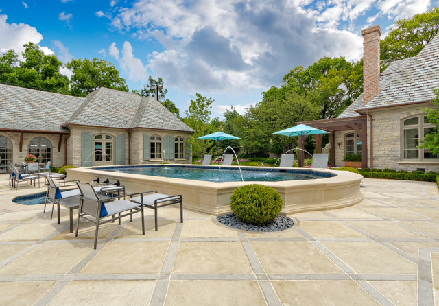 Private Residence - French Casual traditional patio