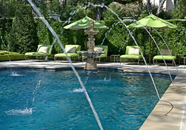 Private Residence French Formal Estate Traditional Pool Dallas By Harold Leidner