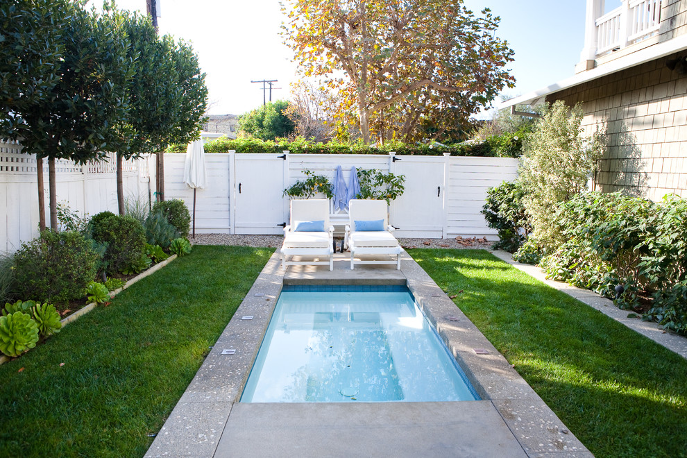 Fresh And Clean Traditional Pool Los Angeles By Molly Wood Garden Design