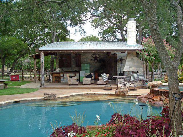 Frisco Cabana Rustic Pool Dallas By Key Residential