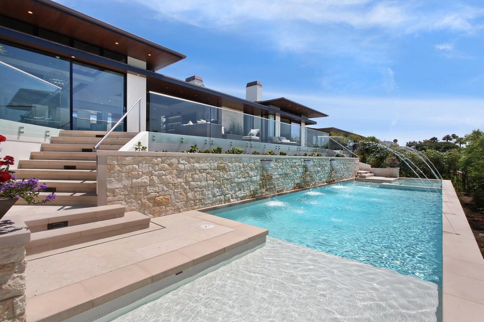 Pool - contemporary pool idea in Orange County