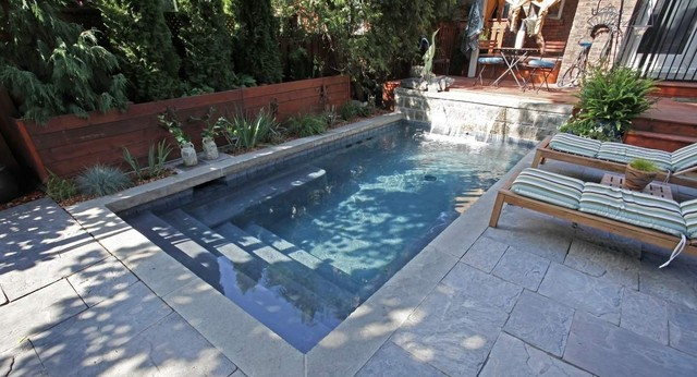 Gallery small concrete pools contemporary swimming pool hot tub toronto by betz for Swimming pool supplies toronto