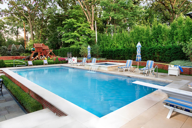 Geometric Outdoor Inground Swimming Pools Traditional