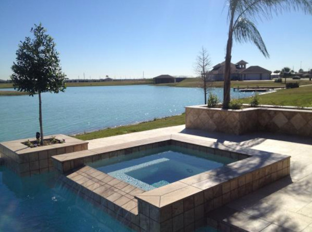 Geometric pool katy texas for Pool design katy tx