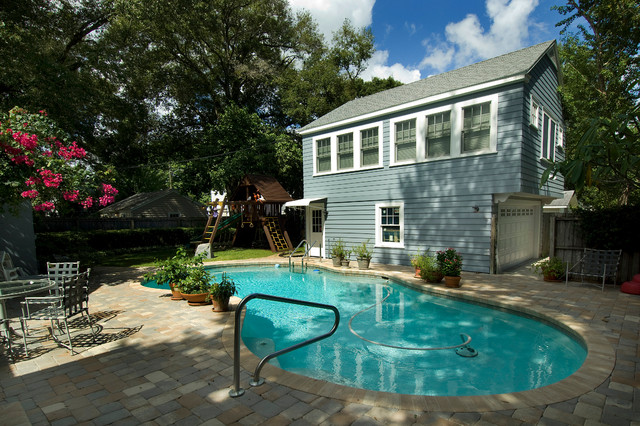 Giffin guest house addition traditional pool tampa for Pool house additions