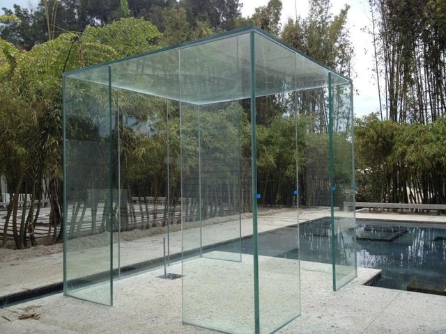 glass cube structure  one of kind creation