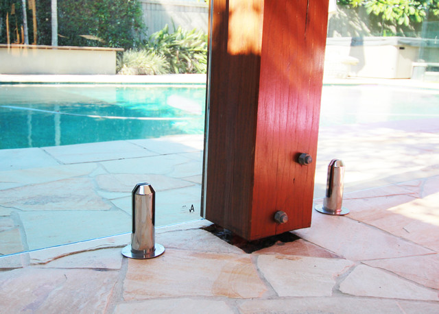 Glass Pool Fence Using Spigots Modern Swimming Pool Gold Coast Tweed By Miami Stainless