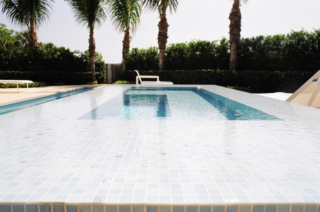 Glass Staircases, treads, landings tropical-pool