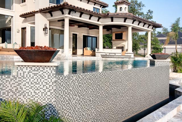 Glass Tile Infinity Edge Houston