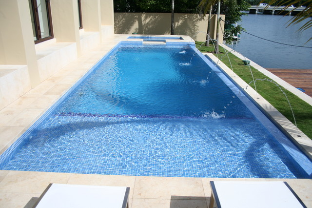 Glass Tile Pools - Contemporary - Pool - miami - by ...
