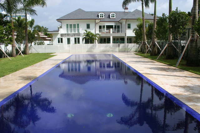 Glass Tile Pools Traditional Pool Miami By