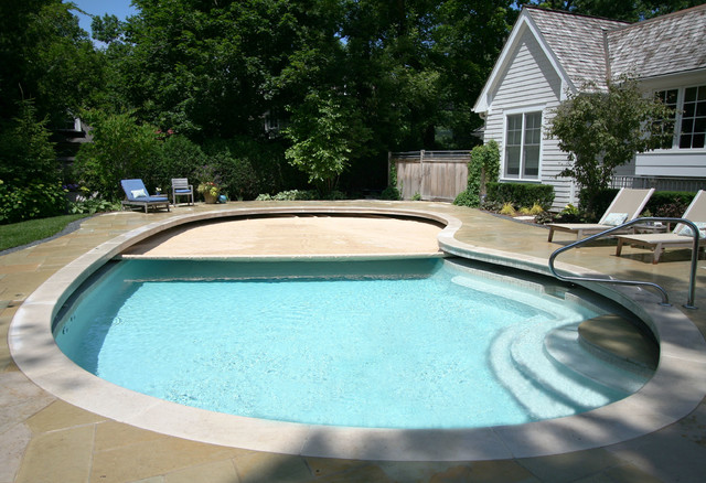 Glencoe Free Form Pool With Auto Cover Traditional
