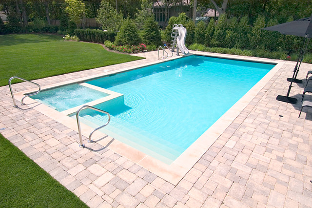Glencoe, IL Swimming Pool and Interior Hot Tub - Traditional - Pool ...