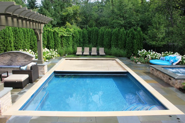 Glencoe pool and spa traditional pool chicago by for Inground pool and spa
