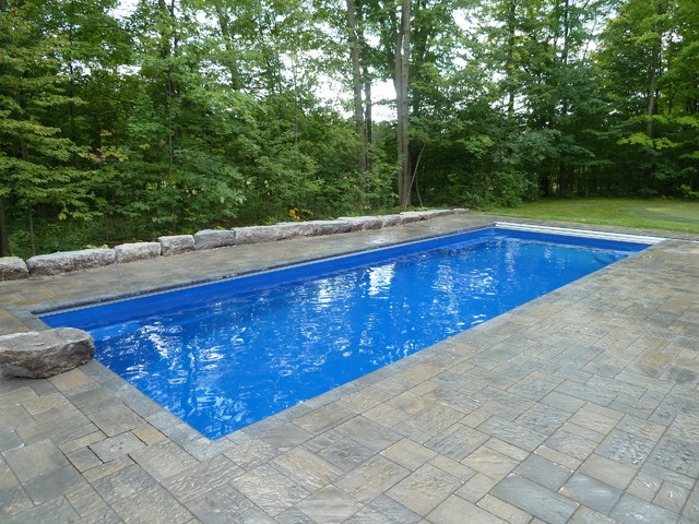 Goliath 41 Fiberglass Swimming Pool - Traditional - Pool ...