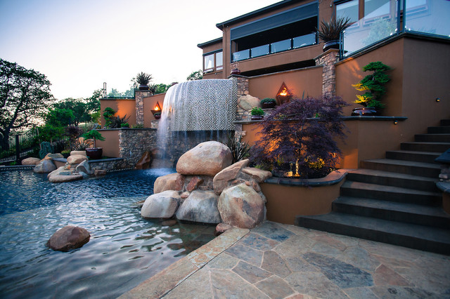 Granite Bay contemporary-pool